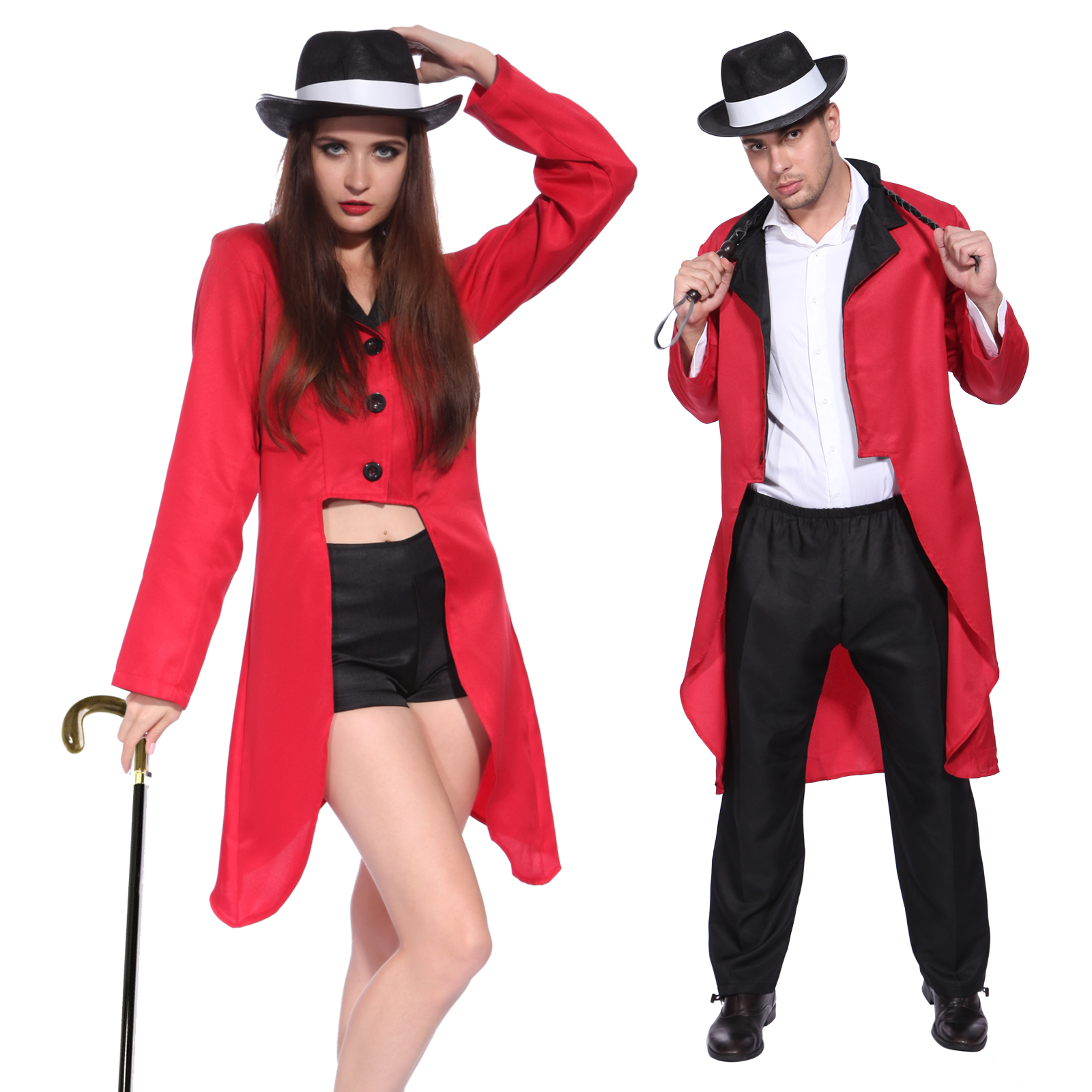 Adult Mens Womens Circus Ringmaster Jacket Costume ...