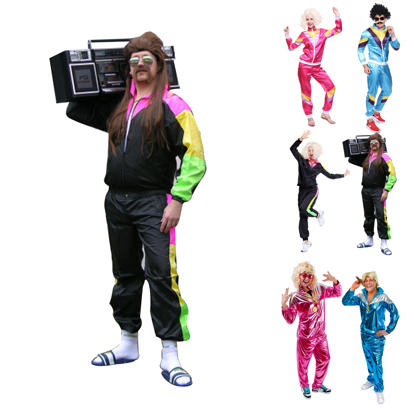 d guisement costume tenue survetement annee 80 1980s unisexe 118 218 hip hop ebay. Black Bedroom Furniture Sets. Home Design Ideas