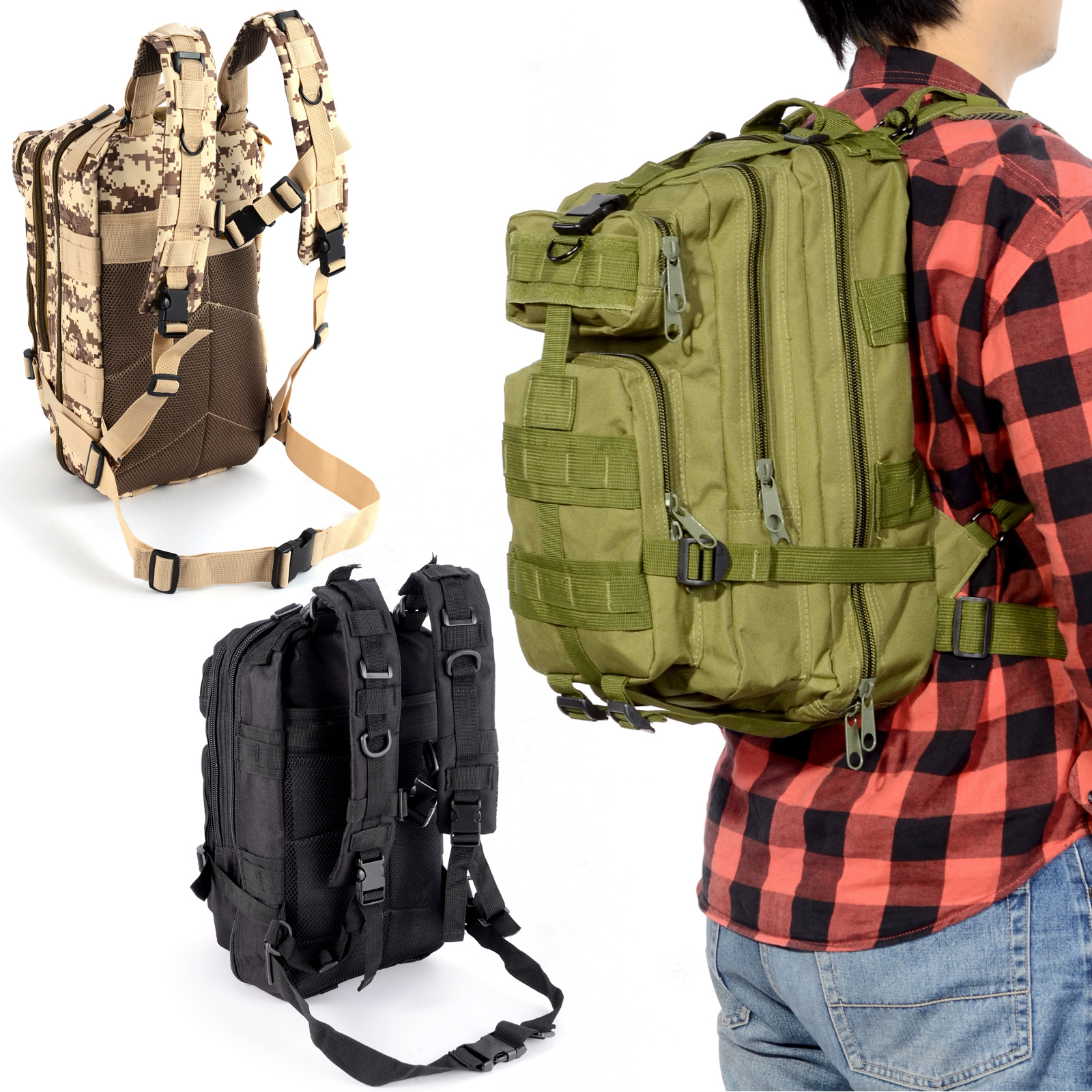 30l sac a dos bandouli re tactique militaire outdoor camping randonn e etanche ebay. Black Bedroom Furniture Sets. Home Design Ideas