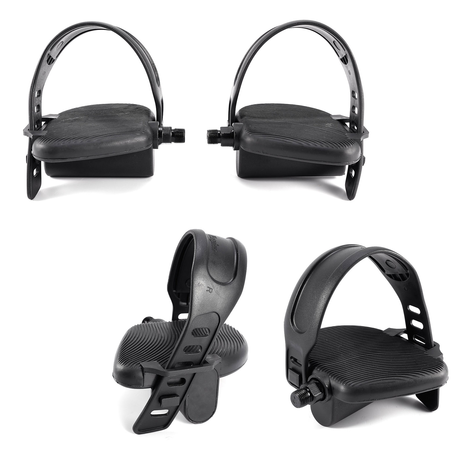 Exercise Bike Pedals W Adjustable Straps 1 2 9 16