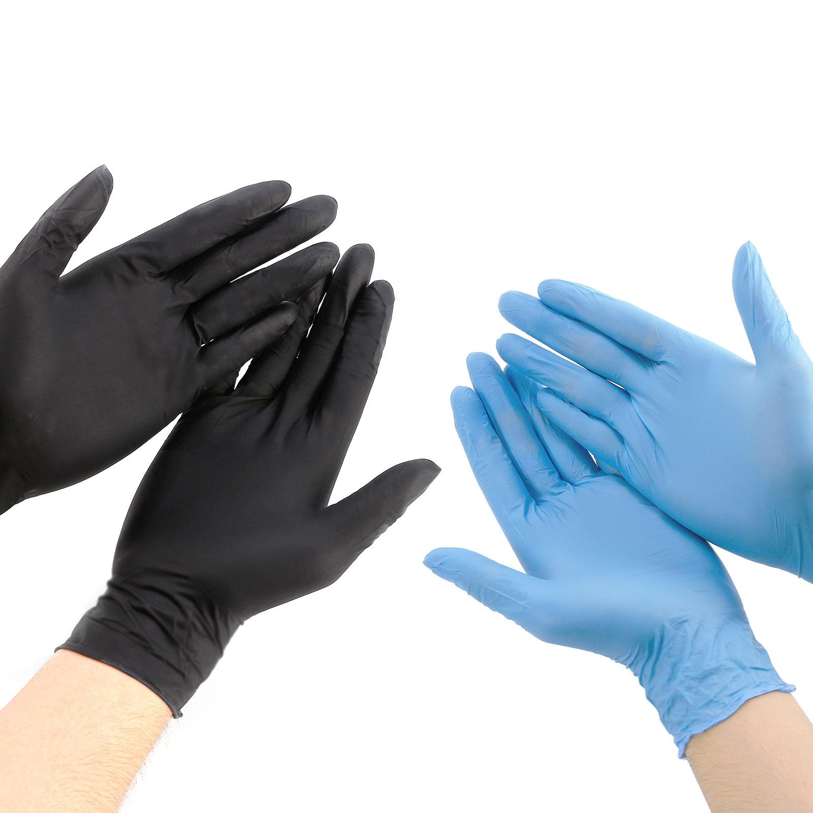 nitril handschuhe einweg einmal puderfrei schwarz gr m l. Black Bedroom Furniture Sets. Home Design Ideas