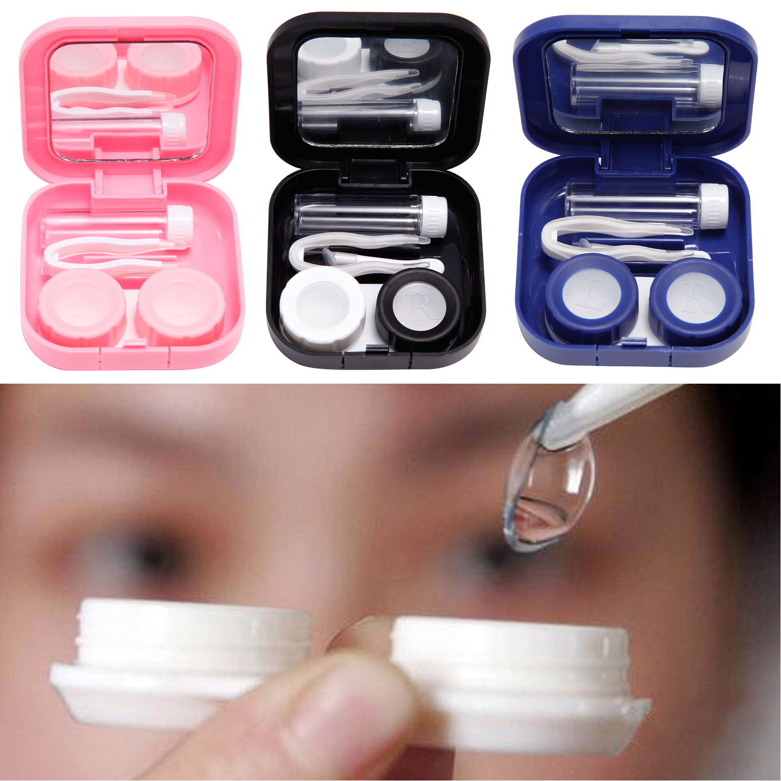 Estuche caja port til para lentillas lente de contacto - Estuche para lentillas ...
