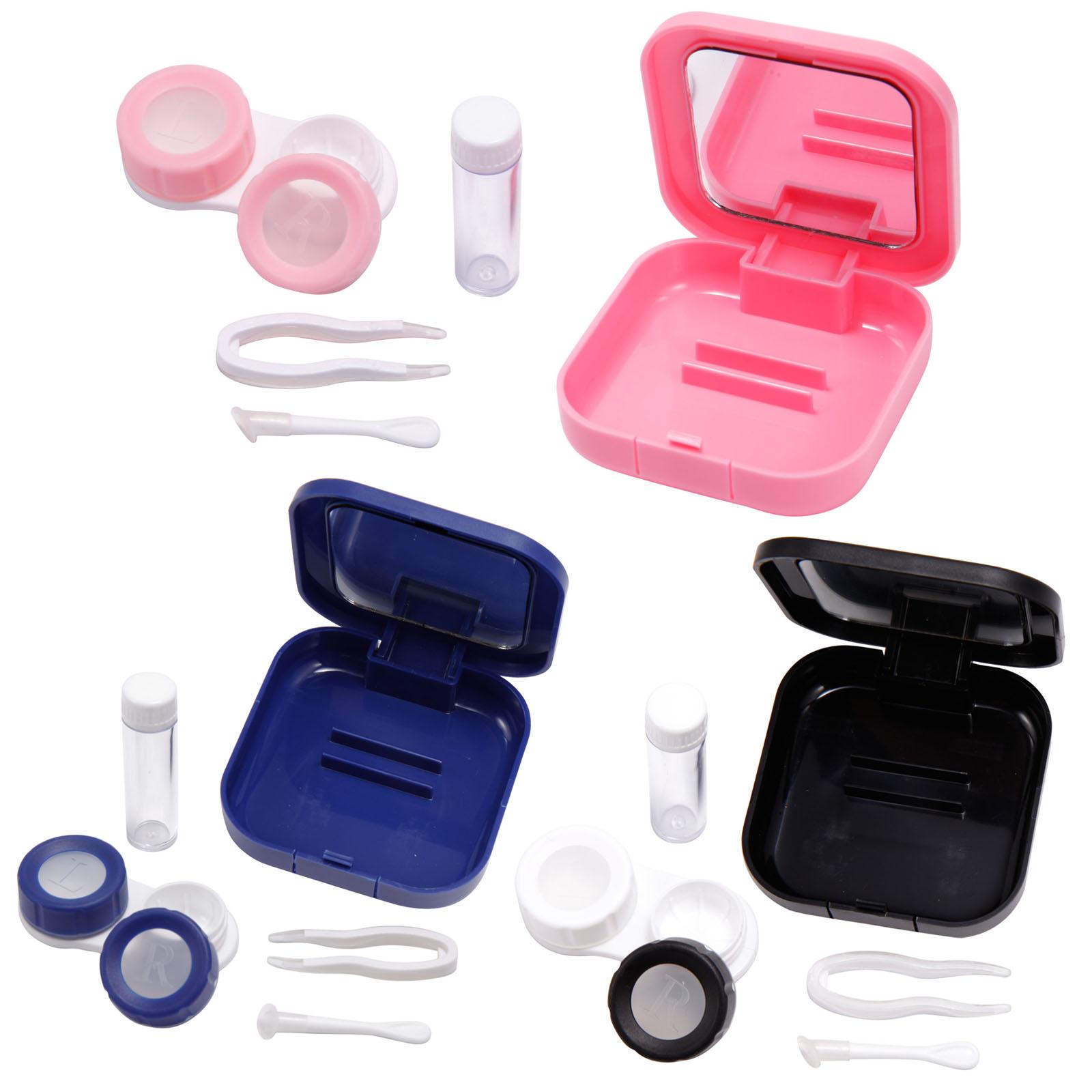 Estuche caja port til viaje para lentillas lente de - Estuche para lentillas ...