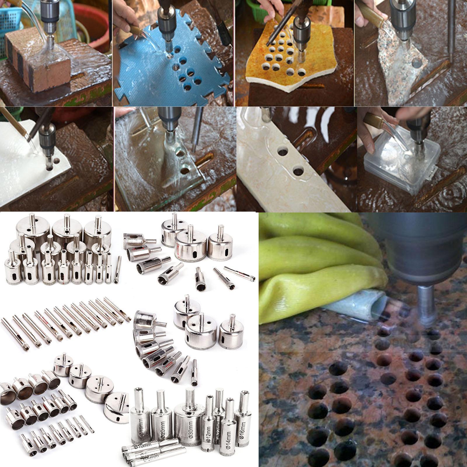 Set diverso 6 70mm punte per trapano diamante granito piastrelle vetro ceramica - Punte per piastrelle ...