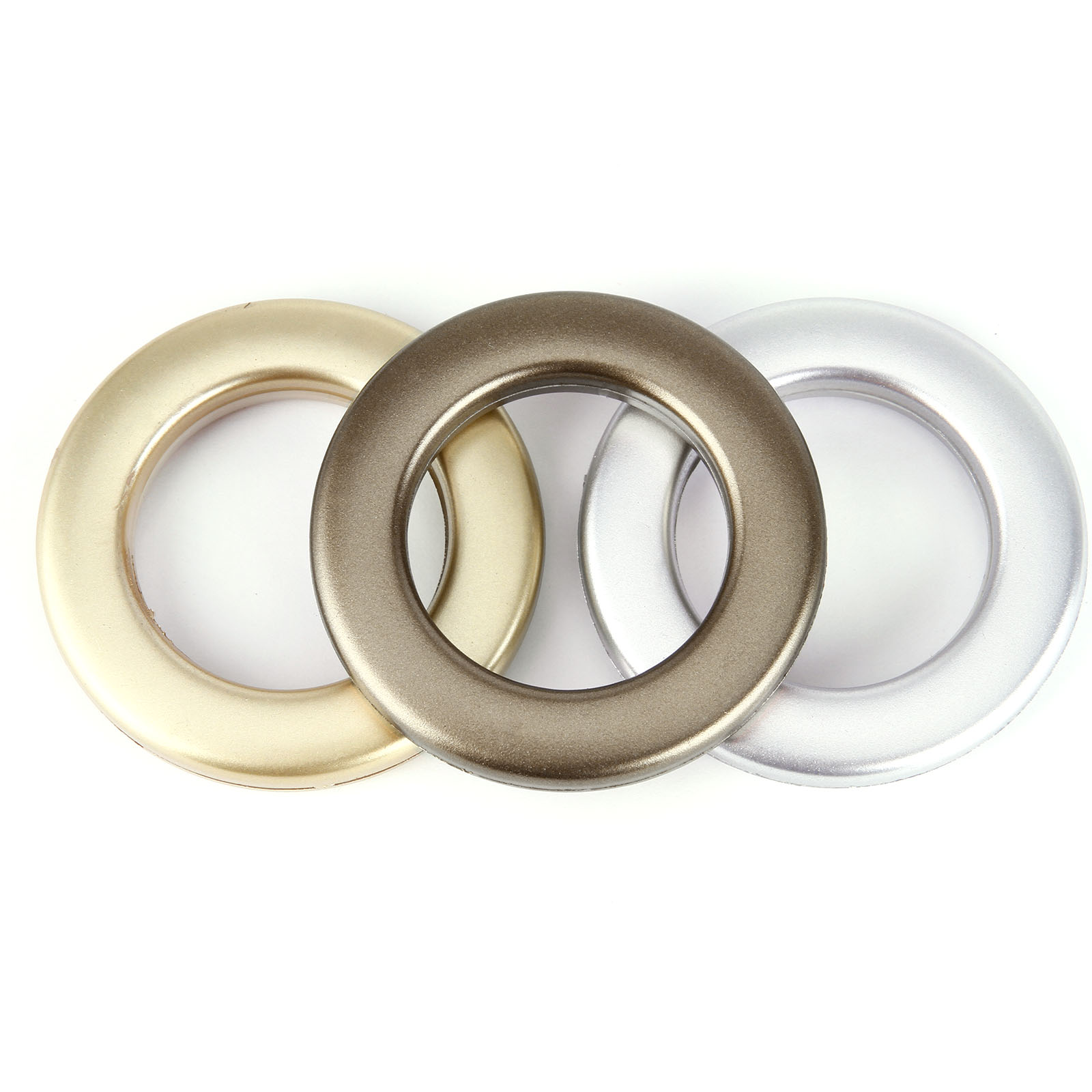 Set Of 20 Plastic Snap Drapery Curtain Eyelets Heading Rings Clips Grommets