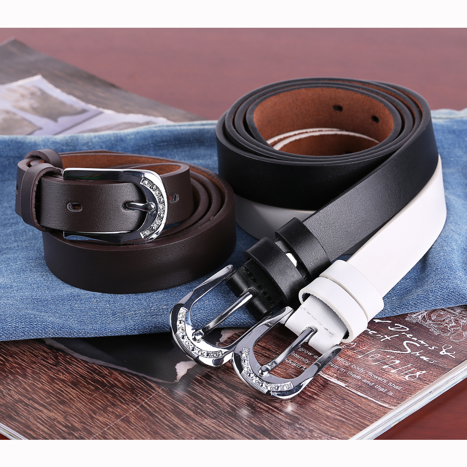womens real leather belts 1 2 quot wide belt white