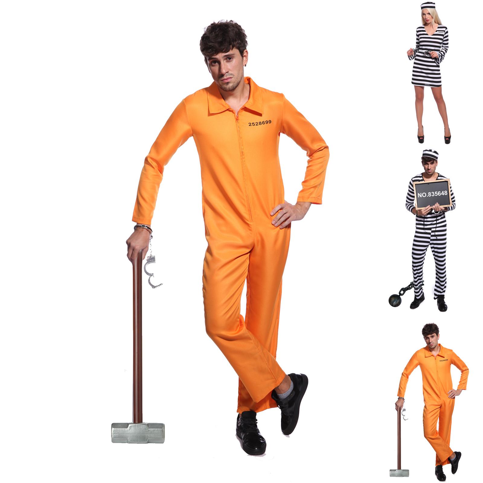 gefangen str fling kost m knasti gef ngnis verbrecher prisoner outfit party m xl ebay. Black Bedroom Furniture Sets. Home Design Ideas