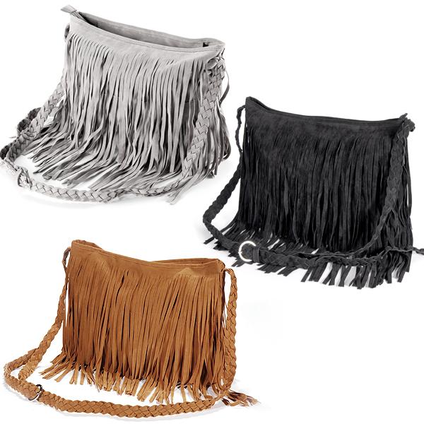 fashion fransen damentasche handtasche bag tasche. Black Bedroom Furniture Sets. Home Design Ideas