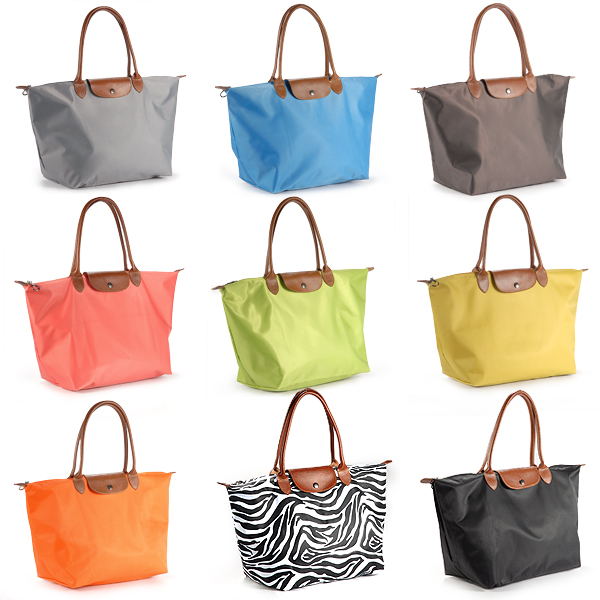 faltbare damen nylon shopping shopper tasche handtasche schultertasche 9 farben ebay. Black Bedroom Furniture Sets. Home Design Ideas