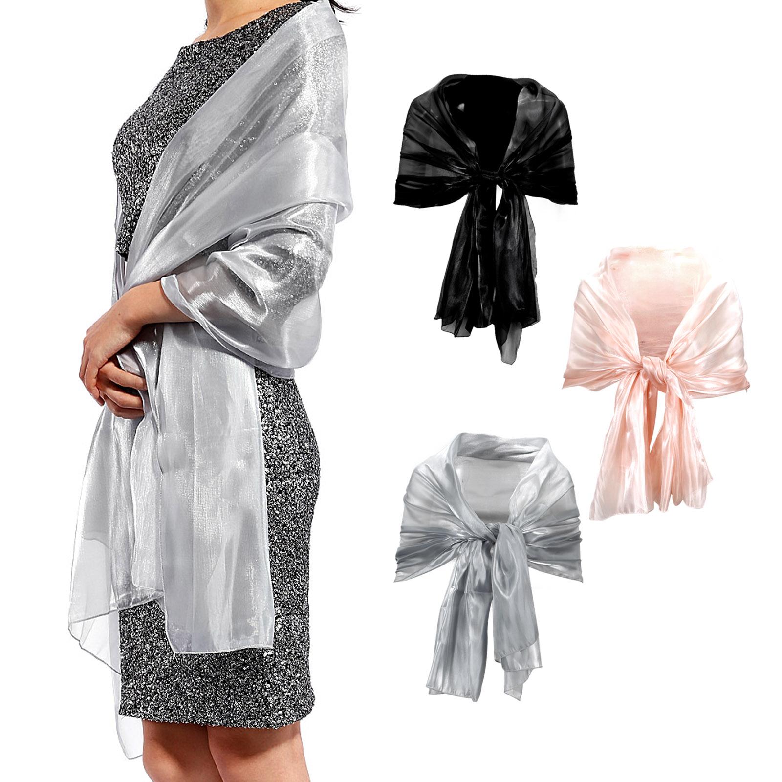 echarpe foulard soie femme ch che ch le silk 190cm soiree bapteme mariage fete ebay. Black Bedroom Furniture Sets. Home Design Ideas