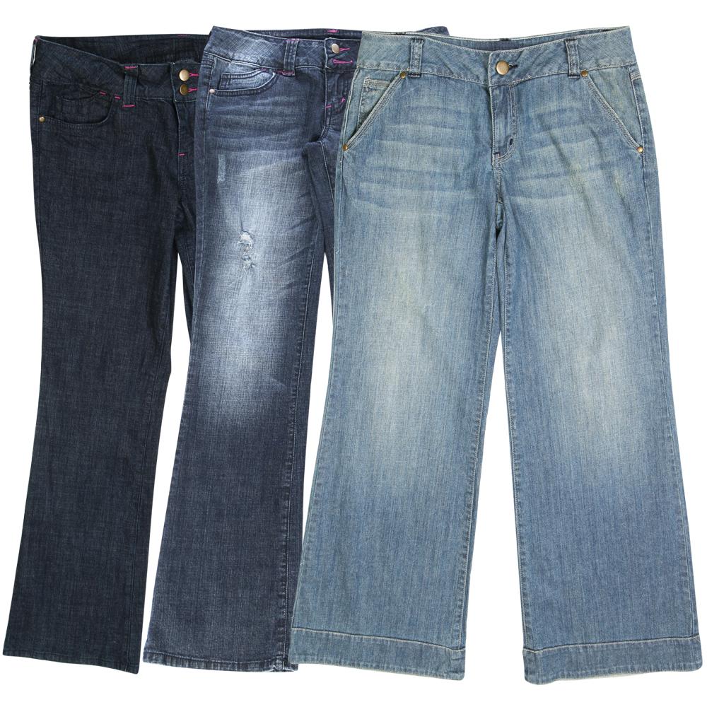 Hint Womens Boot Cut Jeans Wide Leg Denim Pants Flared ...