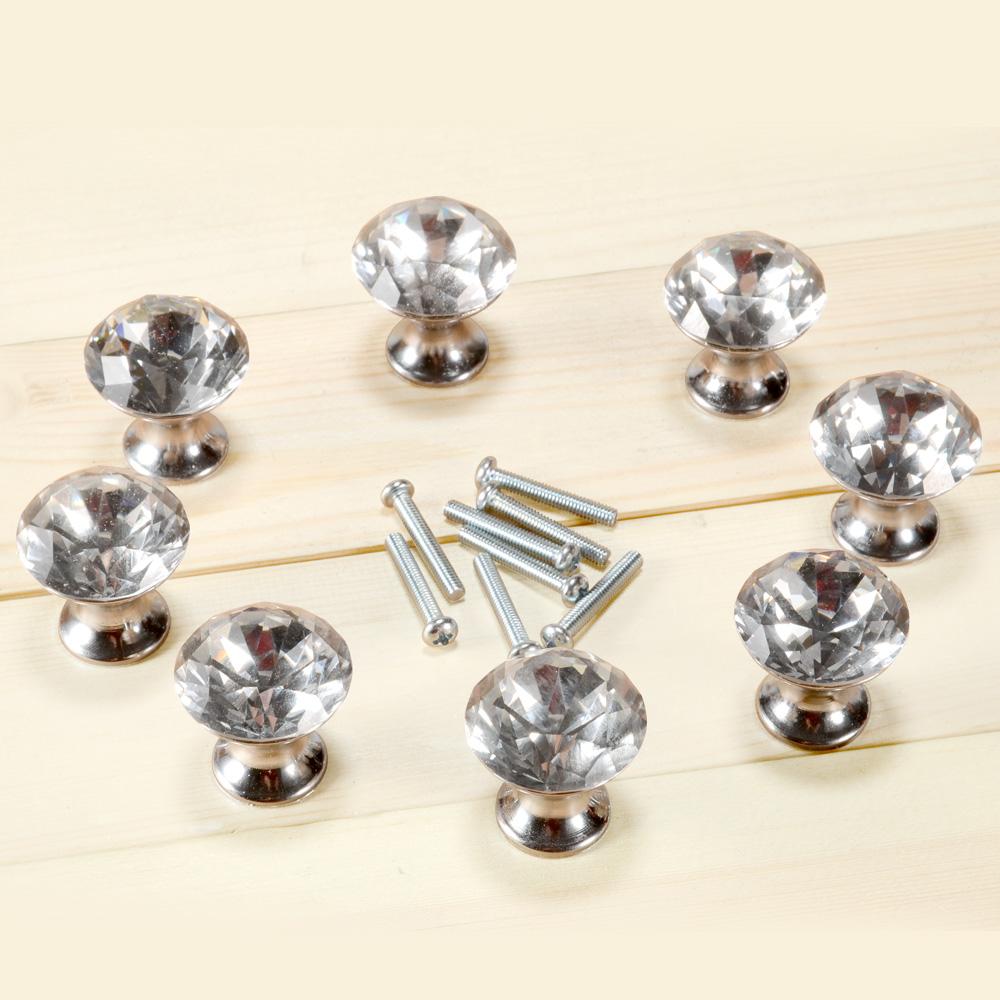 8er kristall klar diamant glas m belkn pfe m belgriffe m belknauf m belknopf ebay. Black Bedroom Furniture Sets. Home Design Ideas