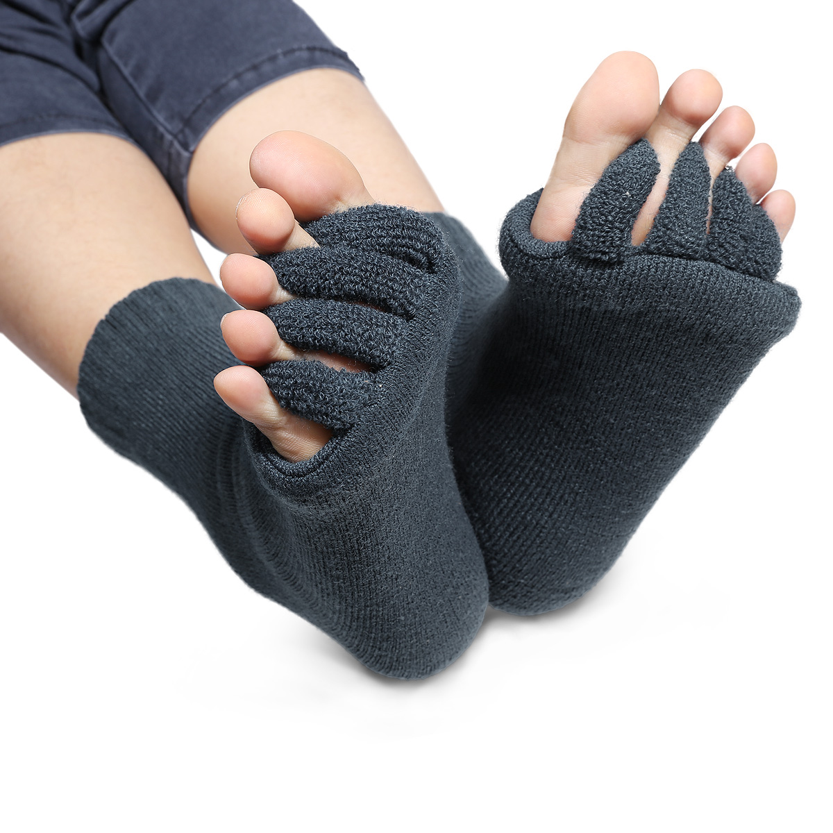 Yoga Shoes For Bunions: 1 Pair Relief Pain Blood Circulation Massage Half Toe
