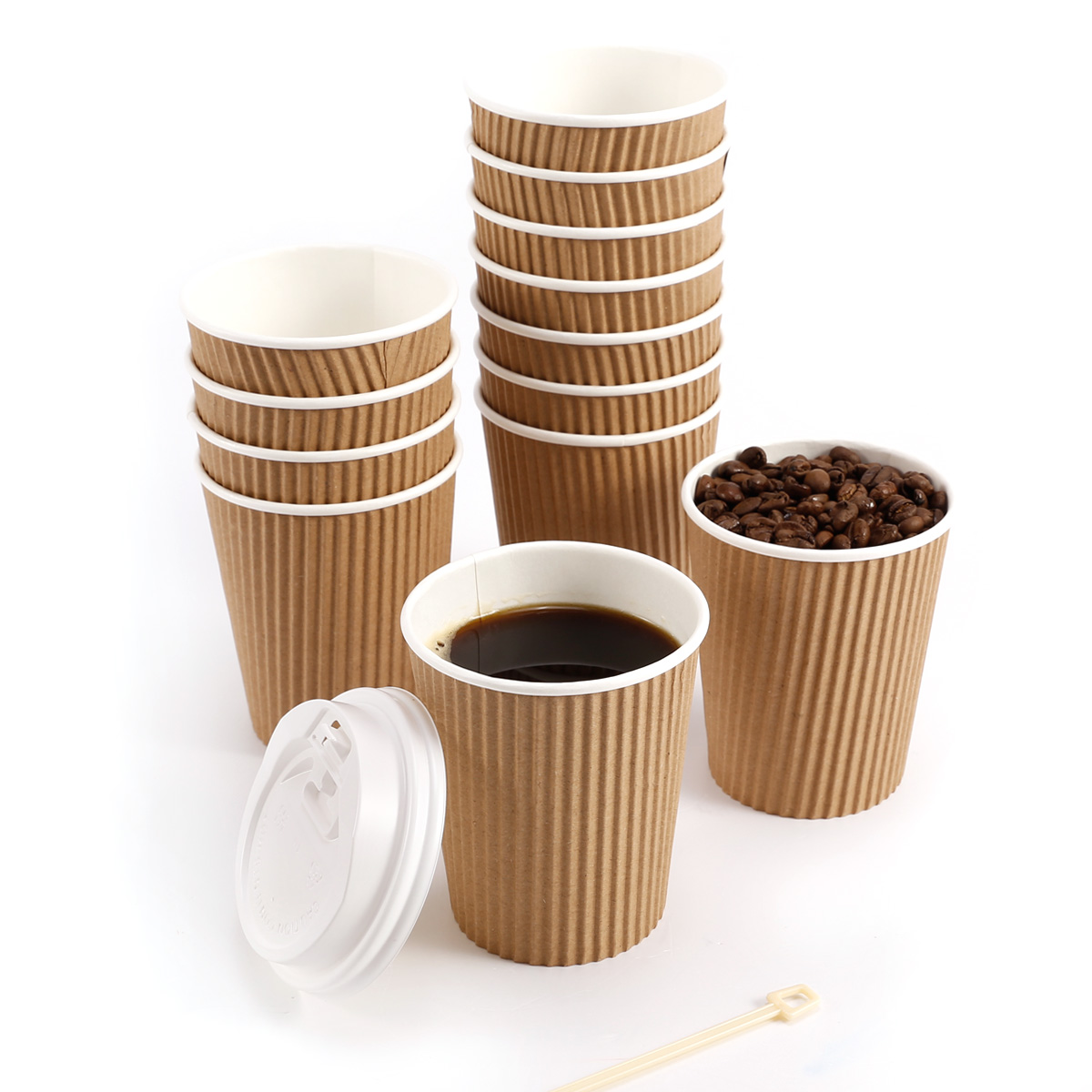 paper coffee cups with lids Enjoy the coffee house feel at home with your monogram or custom message personalized on our paper coffee cups perfect for wedding showers, receptions or a neighborhood brunch.