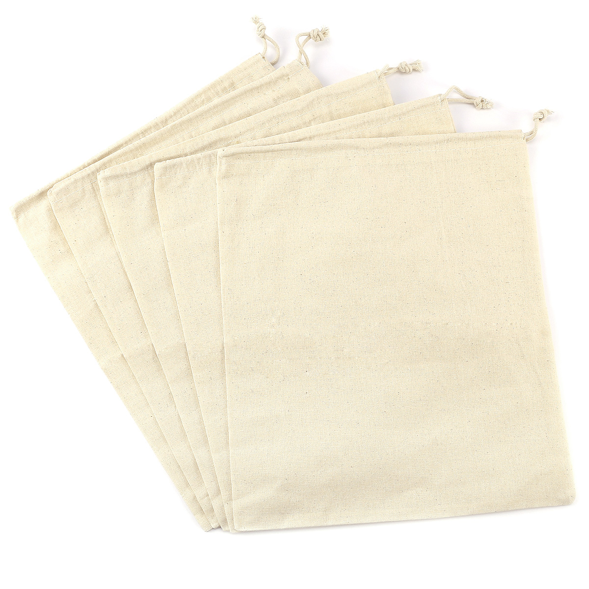 Cotton Stuff Gift Party Laundry Bags W Draw String Small