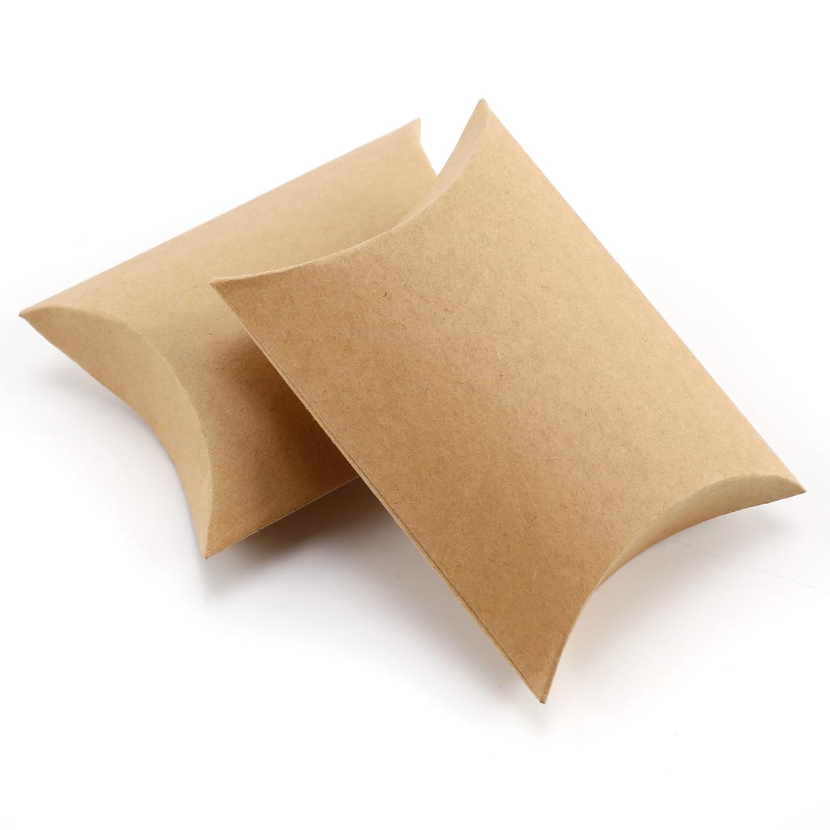 50 100pcs caja kraft petaca cajita del dulces para boda for Cajas de regalo de carton