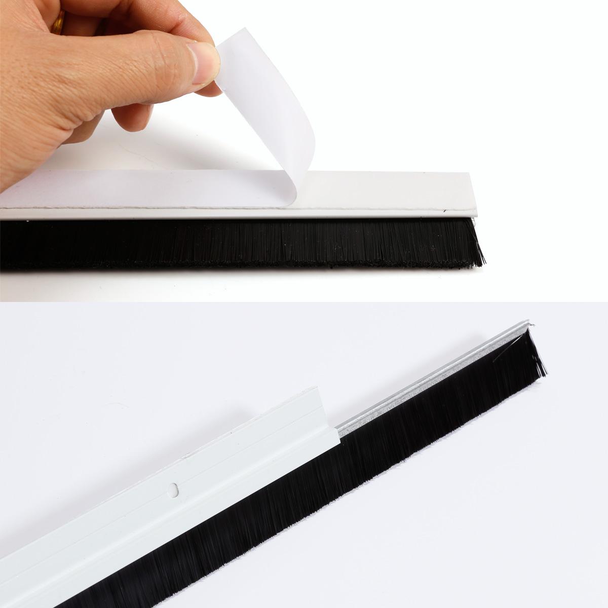 1m Aluminum Nylon 80mm Brush Insert Seal Door Bottom