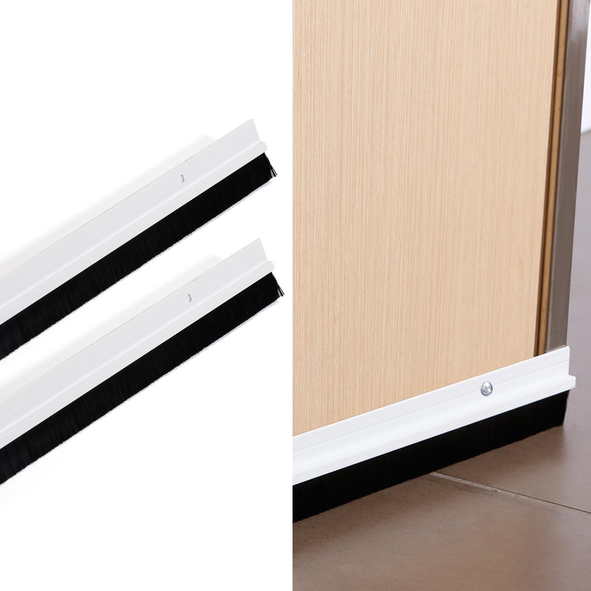2x extra long 995mm aluminium metal door bottom draught for Door excluder