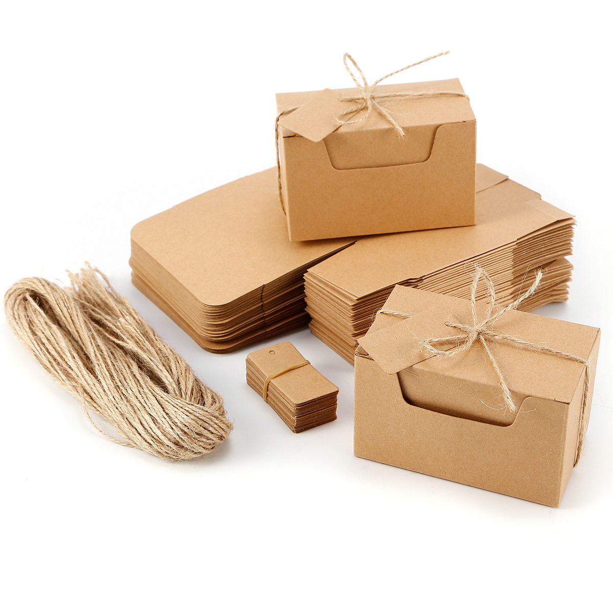 Wedding Gift Boxes Australia : ... Vintage Kraft Paper Brown Candy Box Gift Wedding Party Favour Supplies