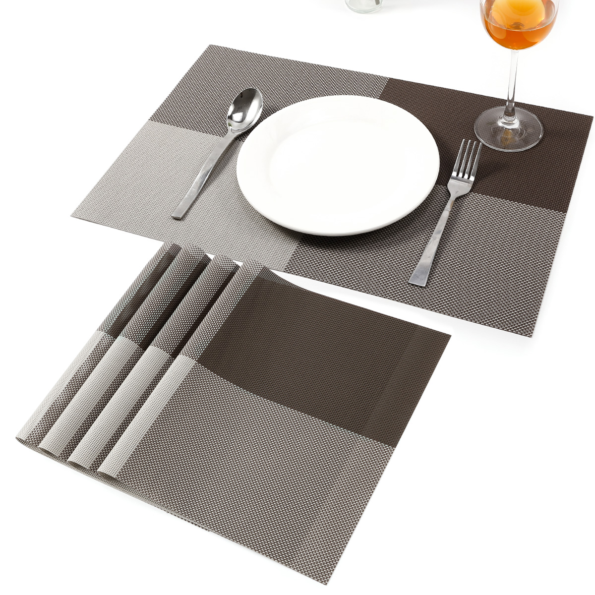 4 Table Mats Washable PVC Dining Place Non slip Heat  : HA308g4 from www.ebay.co.uk size 1200 x 1200 jpeg 547kB