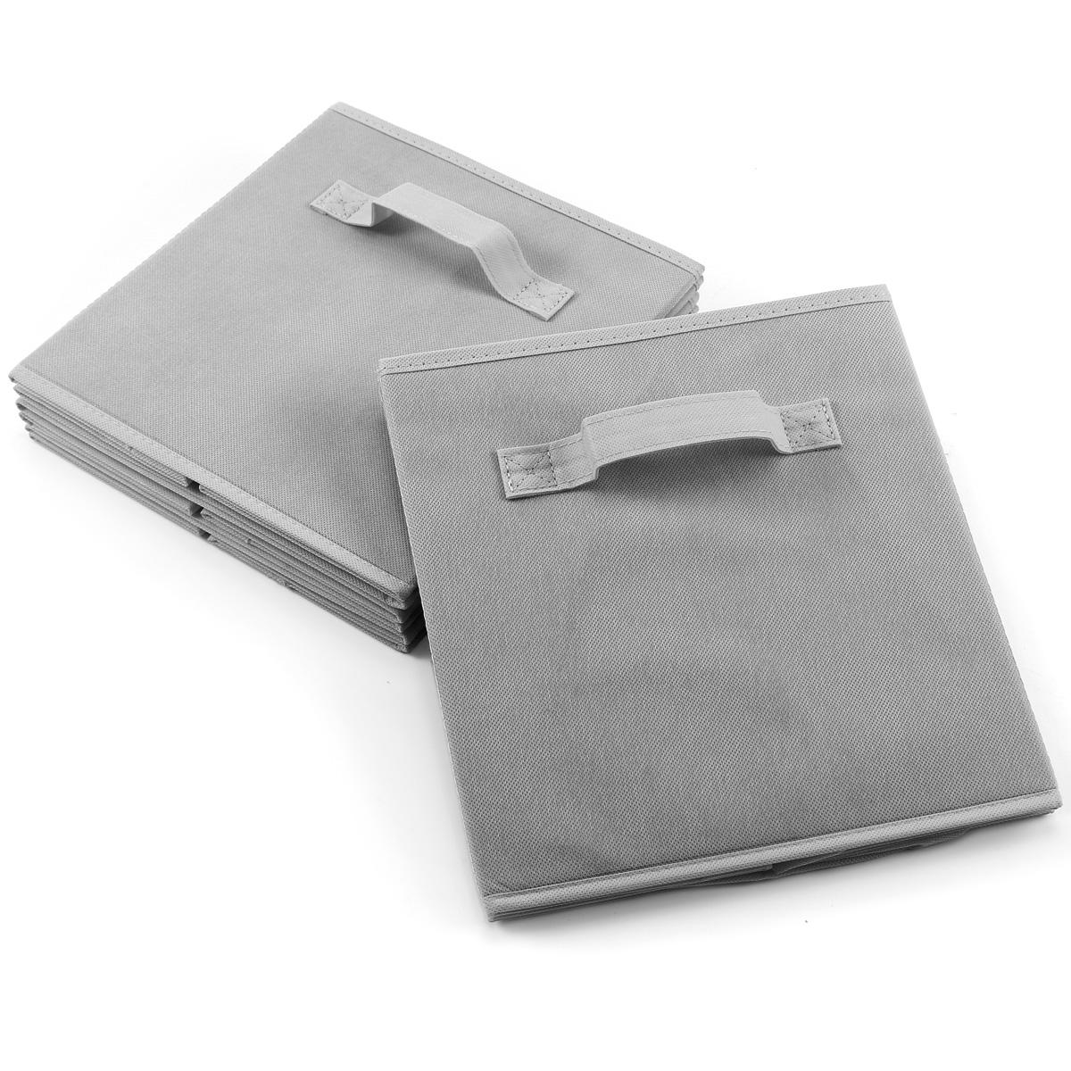 Paquete de 4pcs cajas de almacenaje para ropa accesorios - Cajas tela almacenaje ...