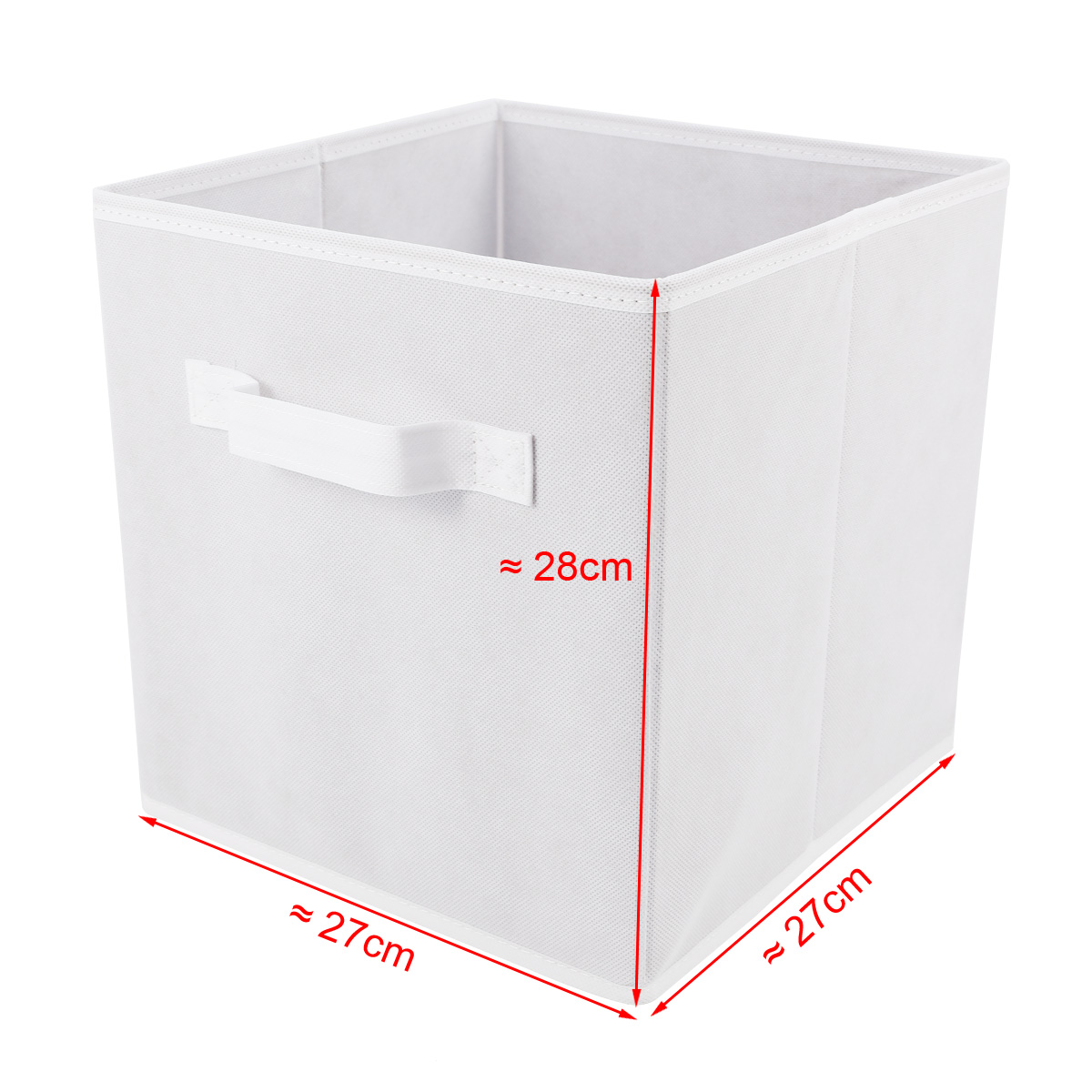 4er weiss faltbox korb regal b ro aufbewahrungsbox f r. Black Bedroom Furniture Sets. Home Design Ideas