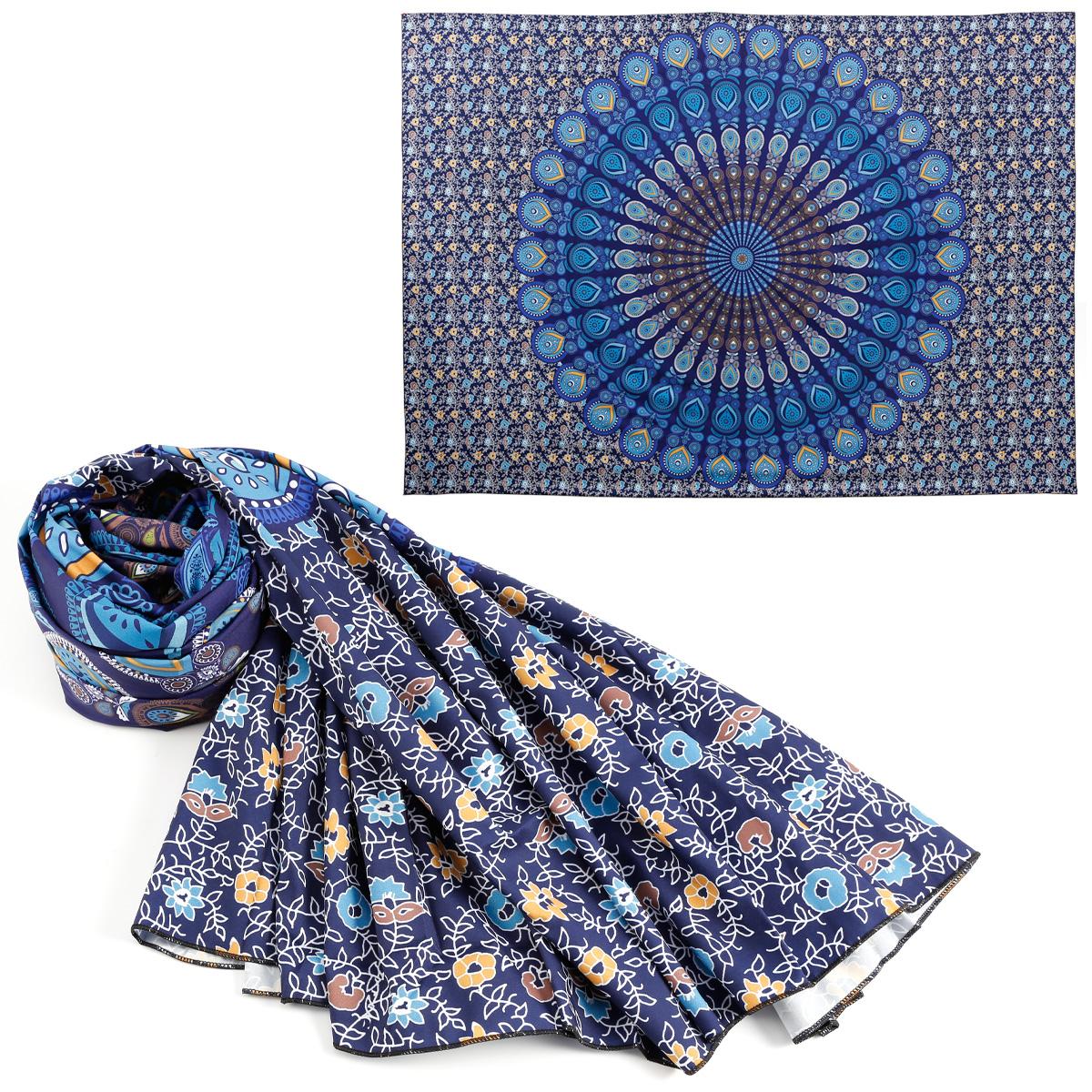 indisch mandala pfau design tagesdecke wandbehang dekotuch. Black Bedroom Furniture Sets. Home Design Ideas