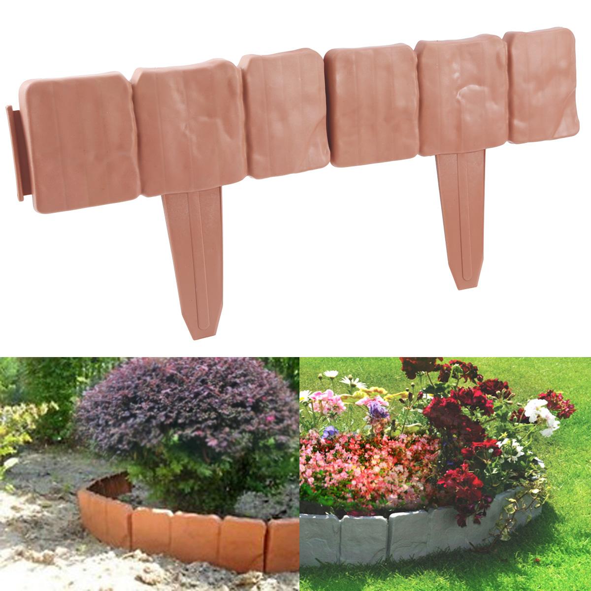 Garden Border Lawn Edging Flexible Plastic Flower Bed