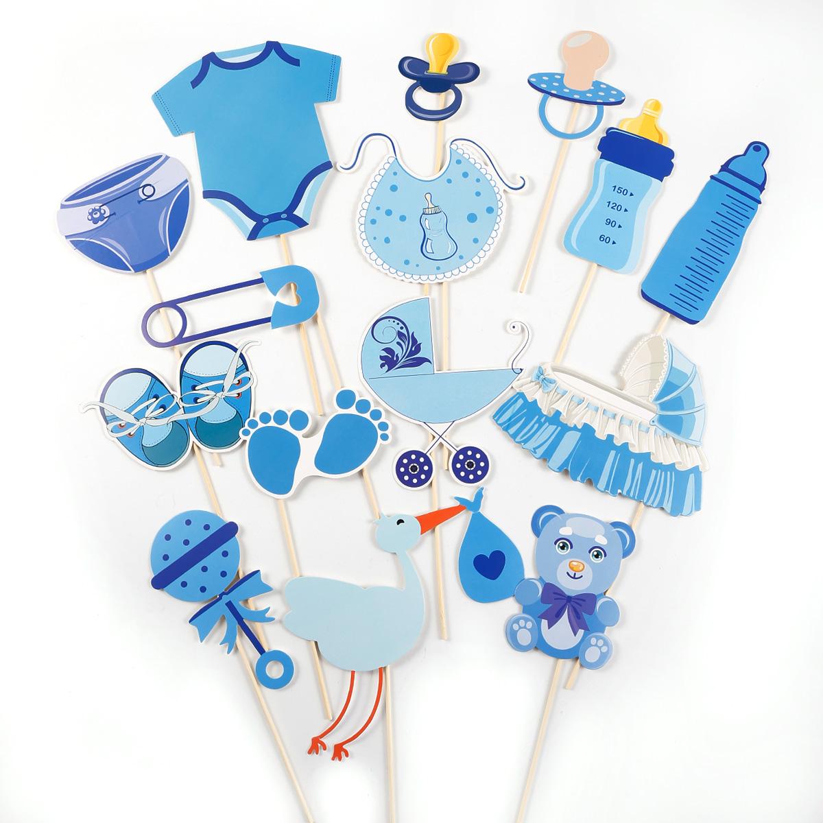31pcs accesorio photocalls para ni o bautizo fiesta for Accesorios para decorar