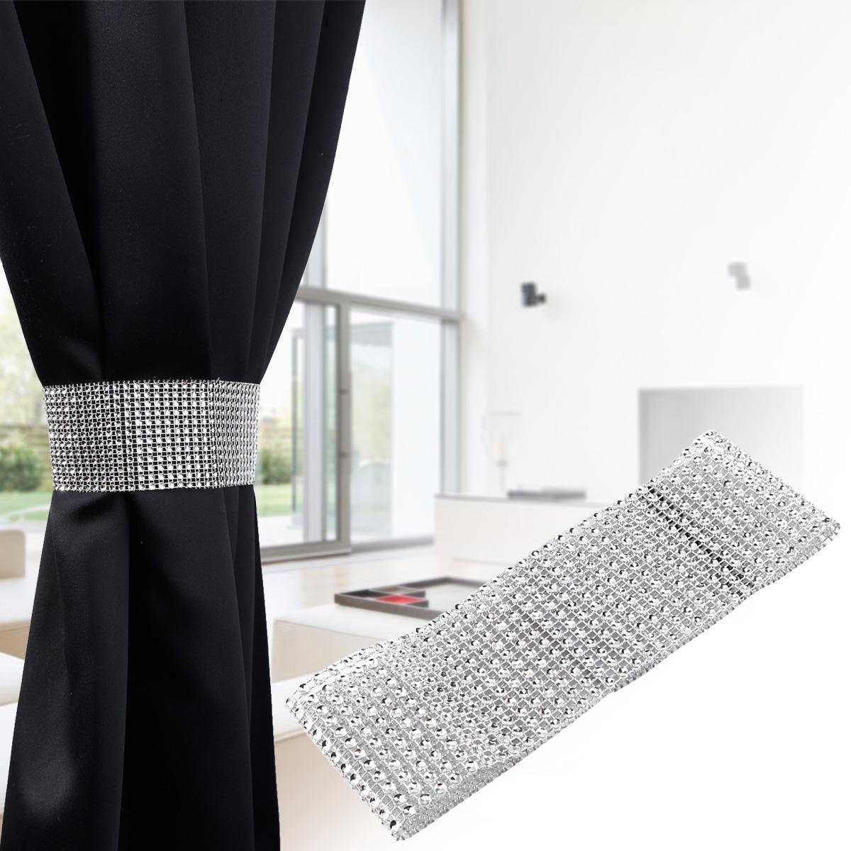 1 Pair 2 Pairs Diamond Curtain Clip On Holder Tie Backs