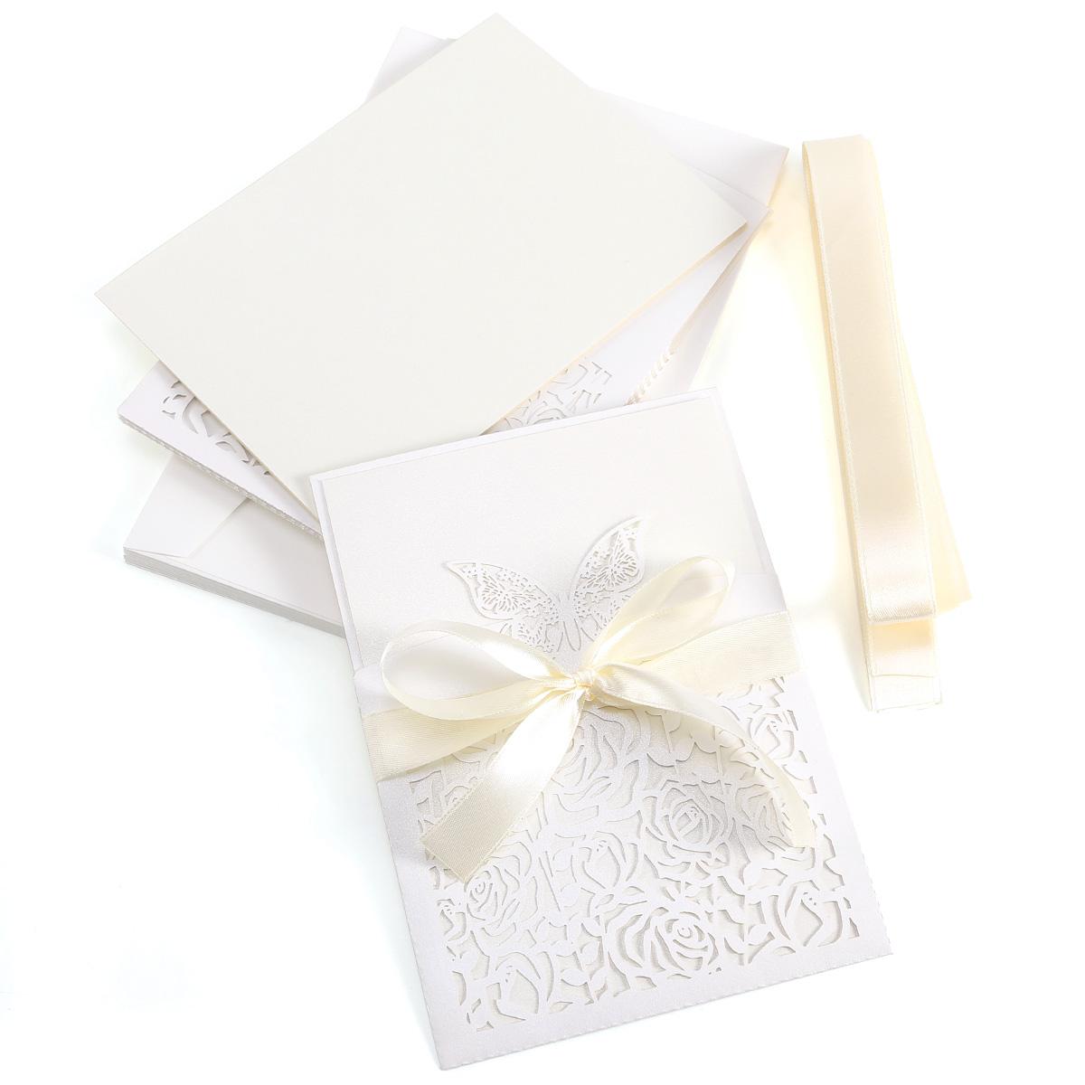 Matrimonio Regalo In Busta : Pz inviti vuoto busta nastro partecipazioni per