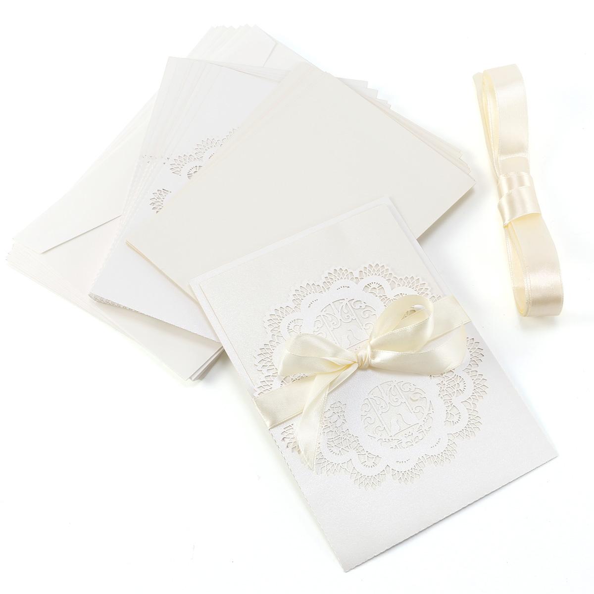 Busta Matrimonio Toscana : Pz inviti partecipazioni carta vuoto busta nastro