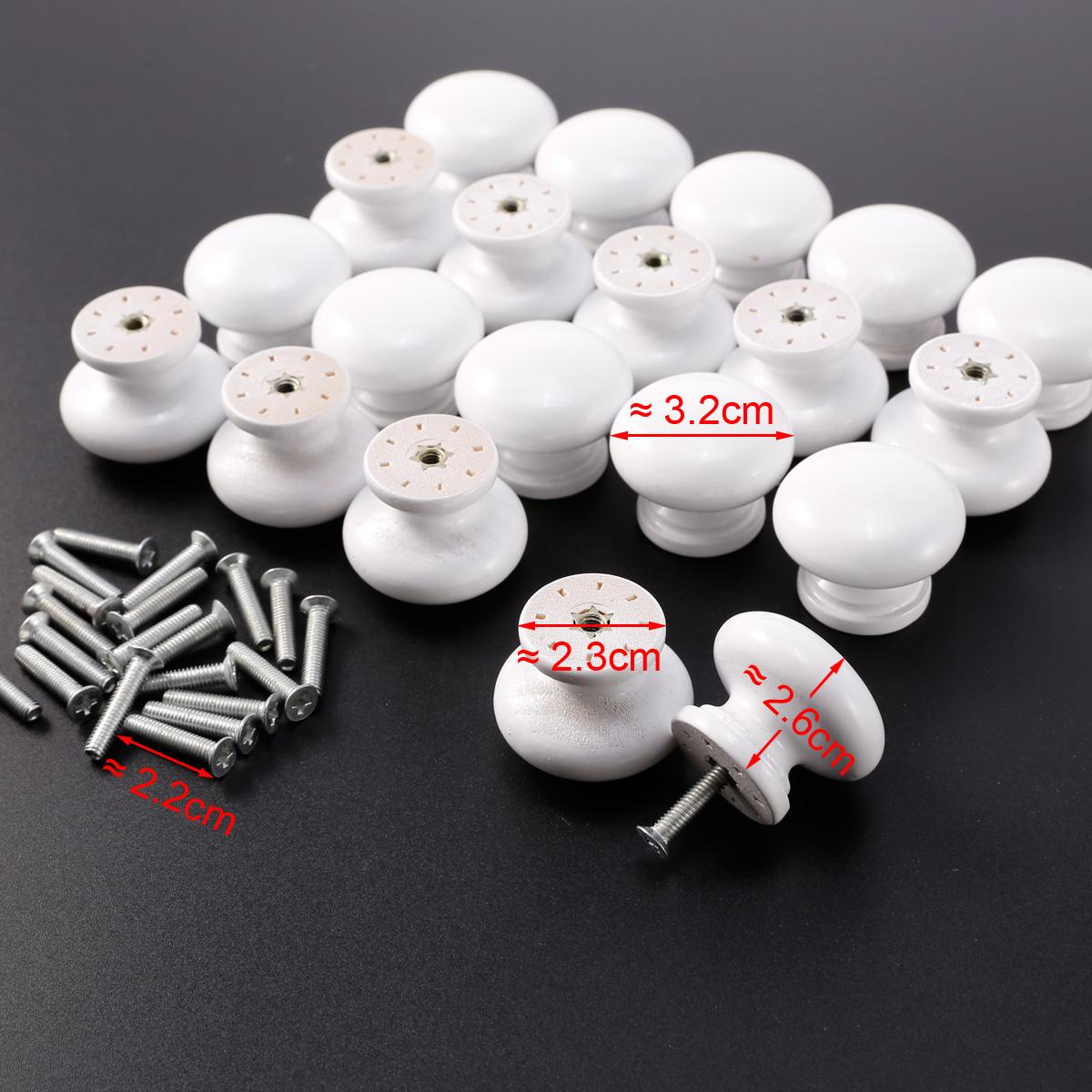 20x poign e bouton bois peinture blanche 32x26mm pour - Peinture blanche pour meuble en bois ...
