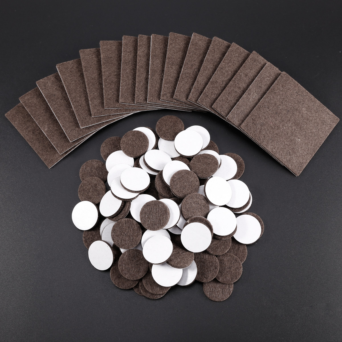 112x Mixed Solid Wood Protection Laminate Floor Furniture Protector Felt Pads Ebay