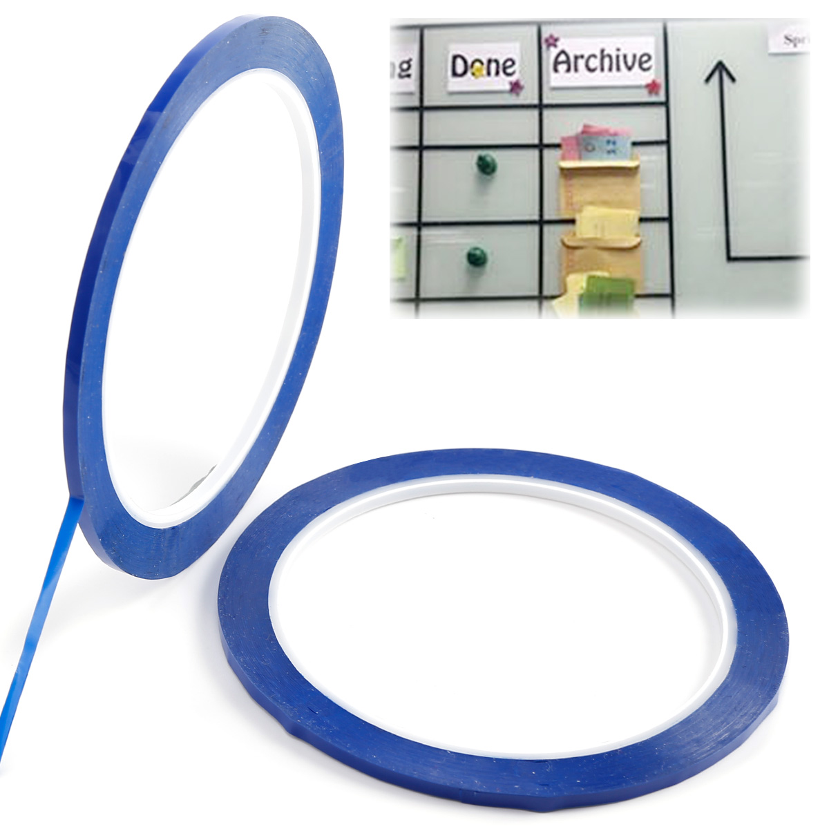 2 Roll 50m Blue Self Adhesive Whiteboard Grid Gridding Marking Tape Non Magnetic | eBay