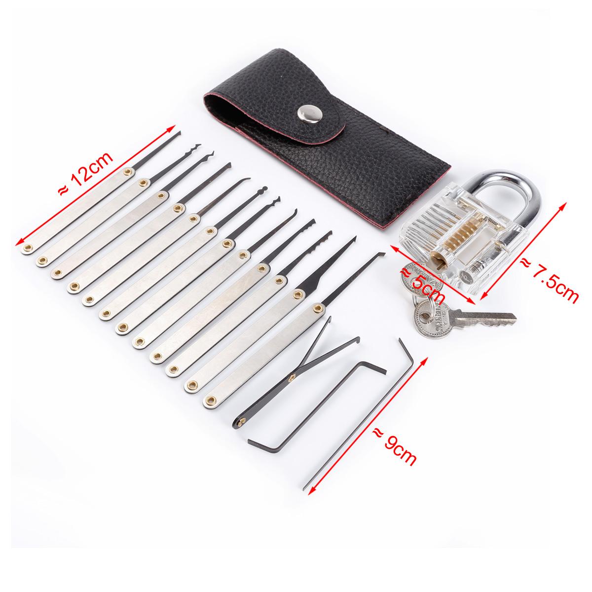 kit cadenas transparent pour entra nement cl 15 outils de serrurier tui ebay. Black Bedroom Furniture Sets. Home Design Ideas