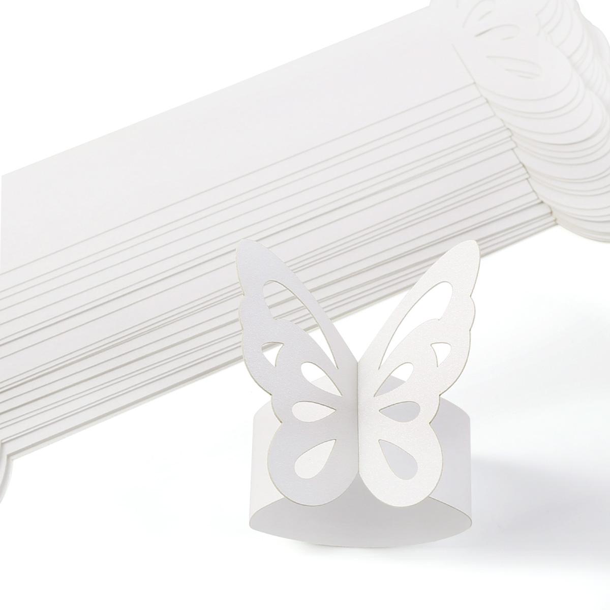 25 x papier serviettenring serviettenhalter platzkarten hochzeit bankette deko ebay. Black Bedroom Furniture Sets. Home Design Ideas