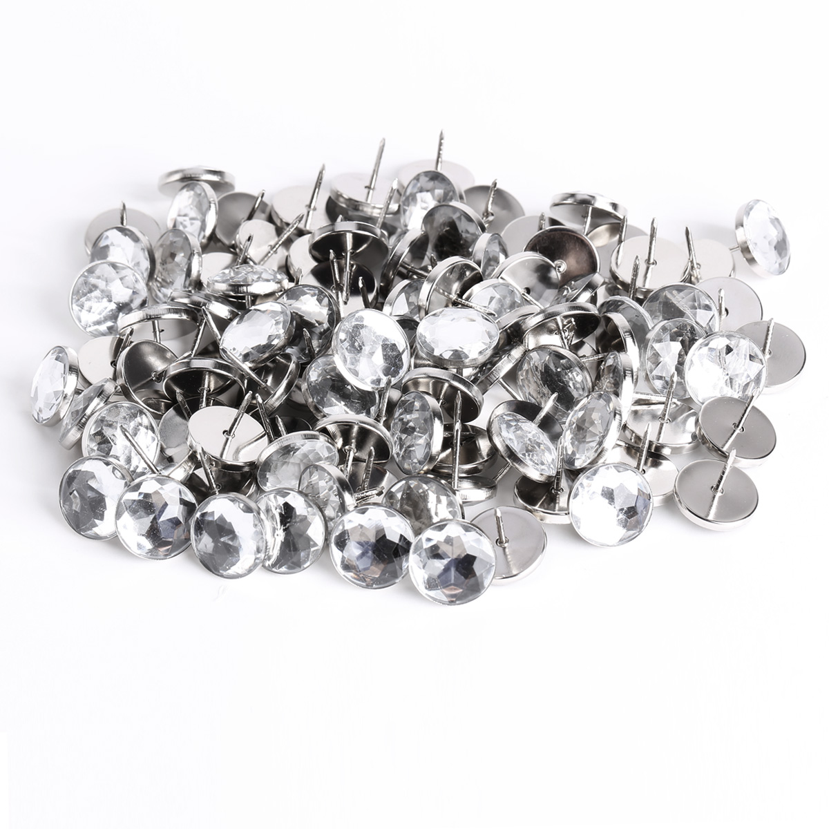 100x bouton clou en strass 22mm décoration scrapbooking