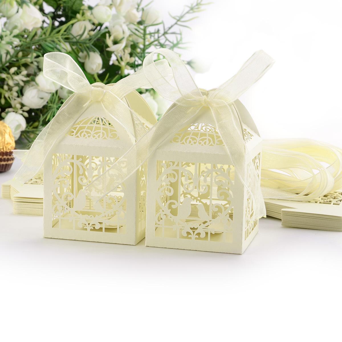 Wedding Gift Boxes Australia : ... Bride Wedding Bomboniere Ribbon Boxes Favor Guest Candy Gift eBay