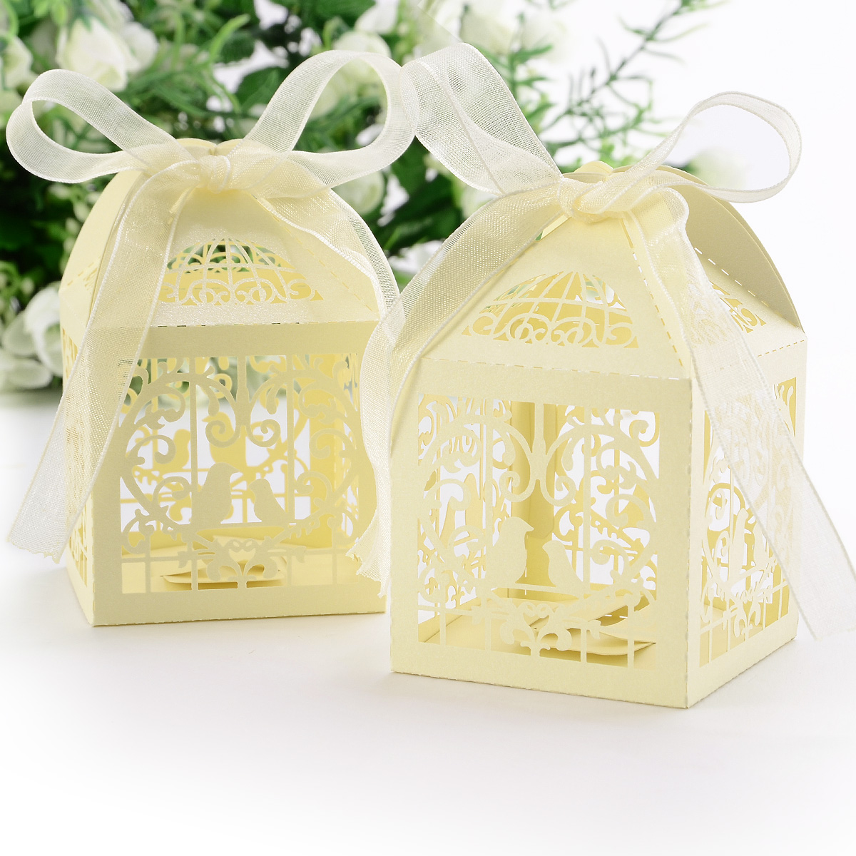 Quality Wedding Favor Boxes: Pcs quality pearl paper hollow wedding ...