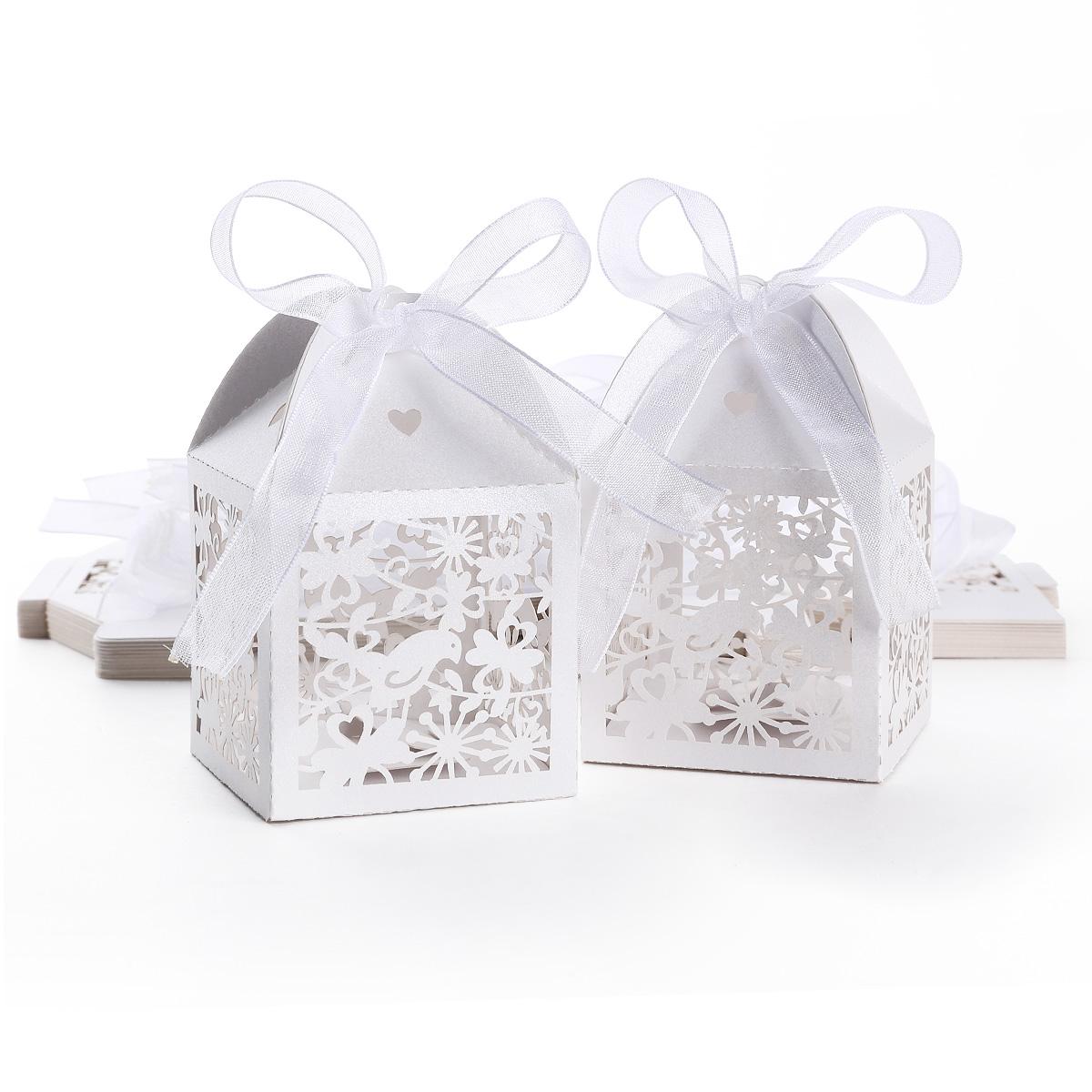 25 x gastgeschenk geschenkbox schachtel box hochzeit deko. Black Bedroom Furniture Sets. Home Design Ideas