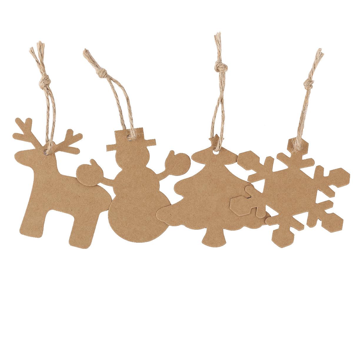 Etiquetas colgantes papel kraft para decorar regalo adorno - Adornos de papel para navidad ...