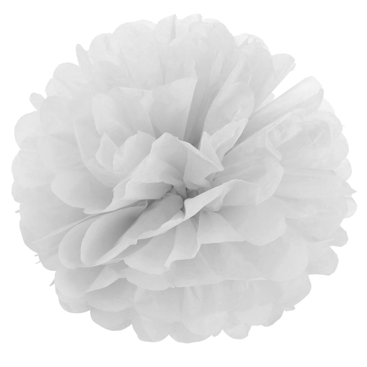 10tlg 20cm weiss pompom papier blumen hochzeit geburtstag deko dekoration. Black Bedroom Furniture Sets. Home Design Ideas