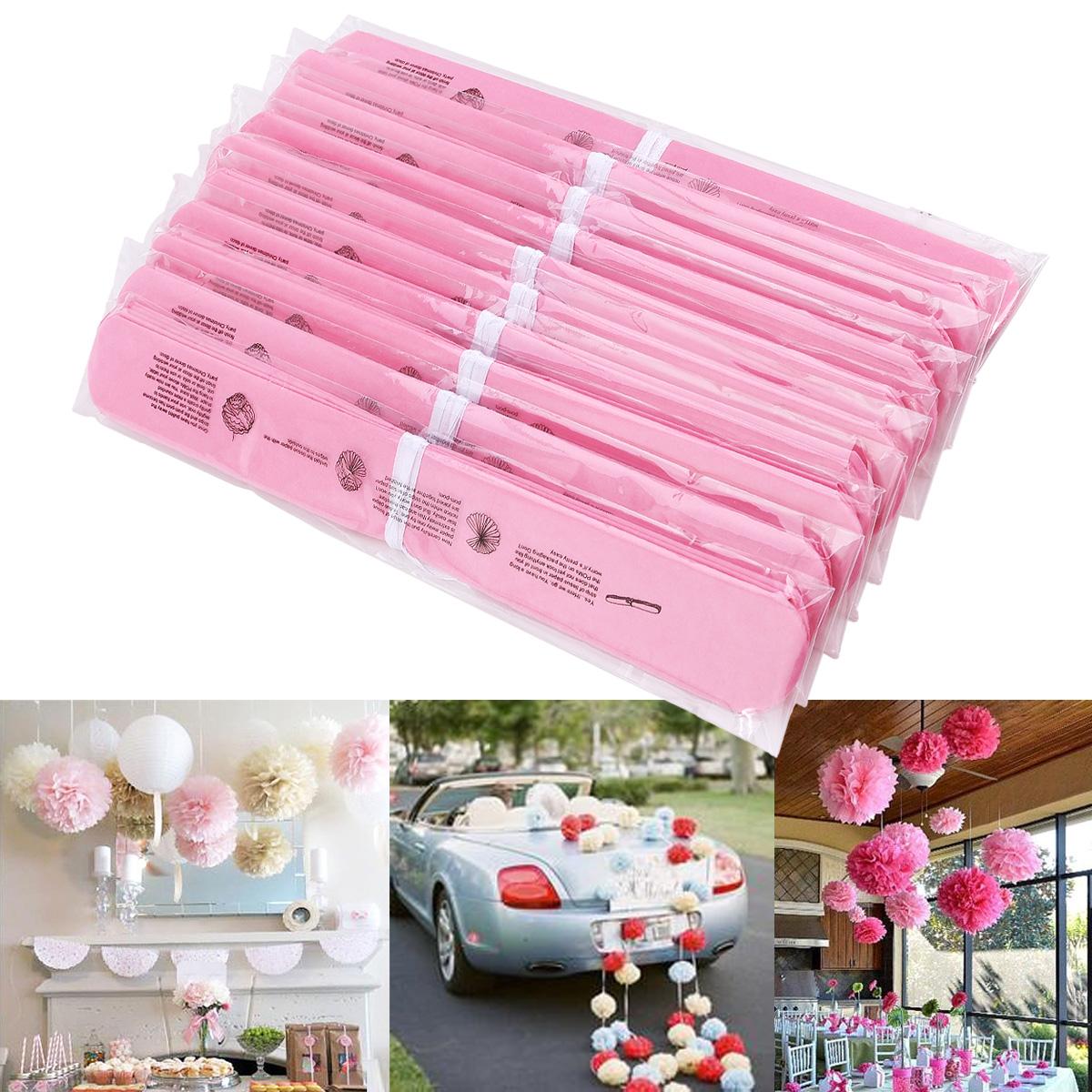 10er 24cm 10 zoll baby pink pompom papier blumen kugel hochzeit garten deko ebay. Black Bedroom Furniture Sets. Home Design Ideas