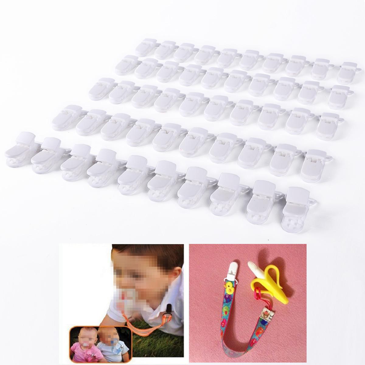 30pcs Clip de plástico Pinzas para Hacer Cadenas de Chupete