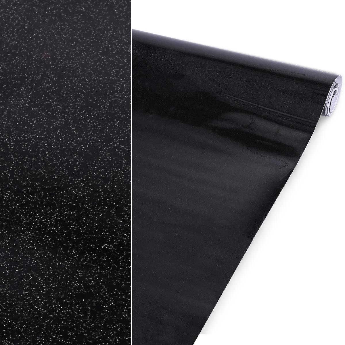 10m 5m rouleau papier peint tanche autocollant 61cm noir blanc poudr ebay - Papier collant pour meuble ...