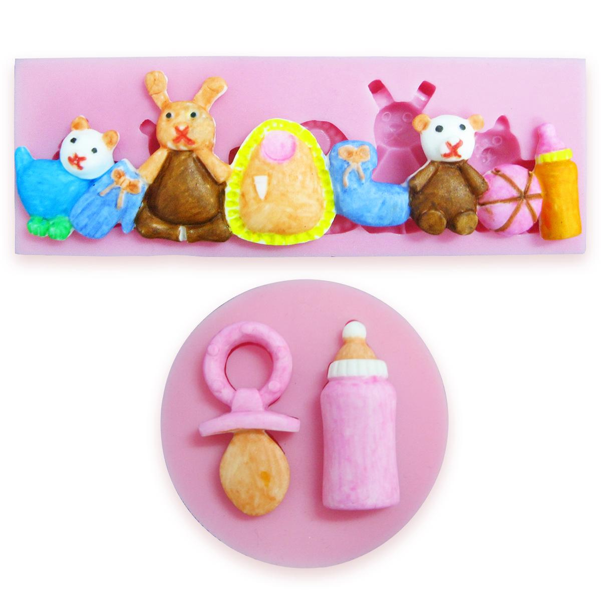 Birthday baby elf silicone cake fondant mold sugarcraft for Sugar craft decorations