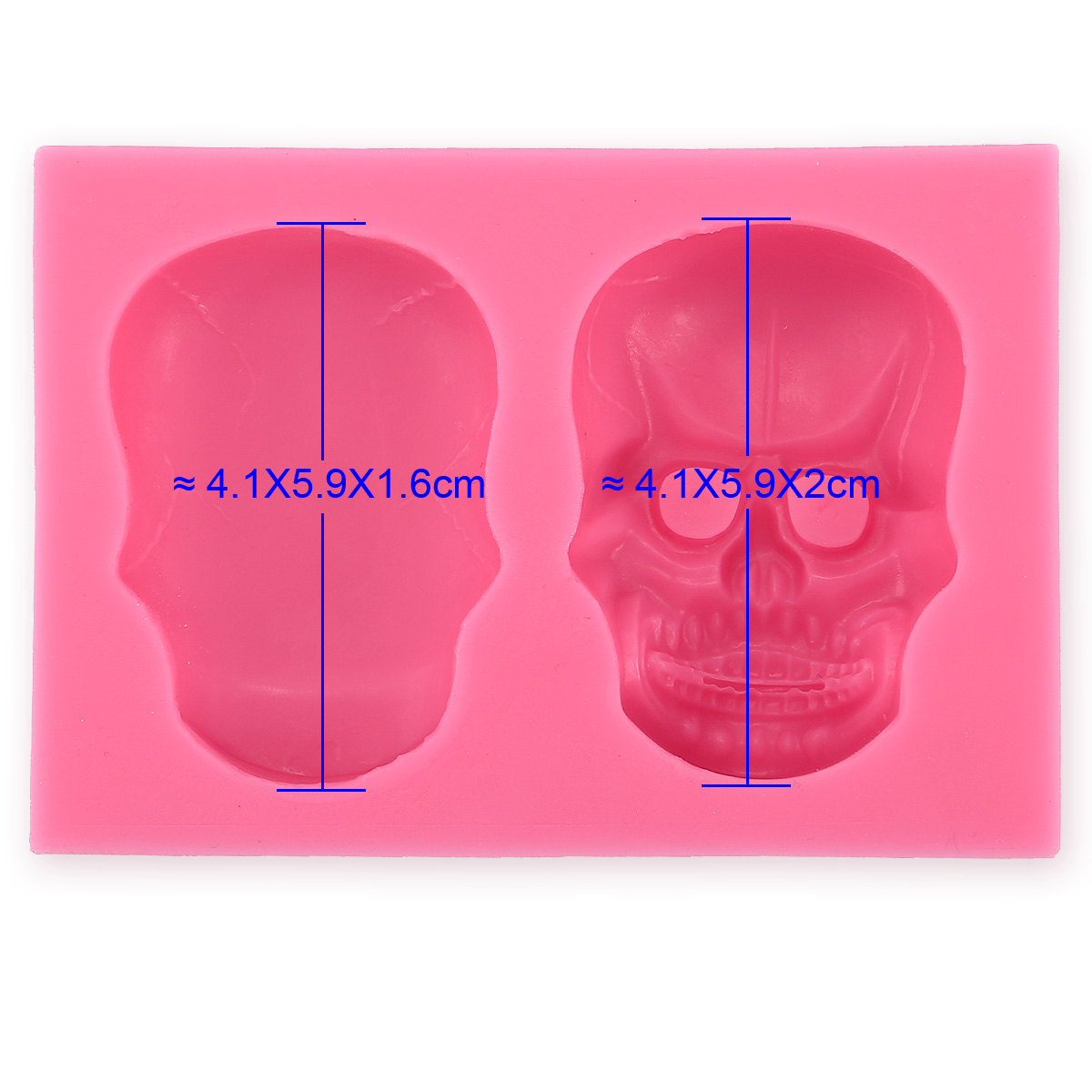 Cake Decorating Silicone Molds Uk : 3D Halloween Skull Silicone Fondant Mould Cake Chocolate ...