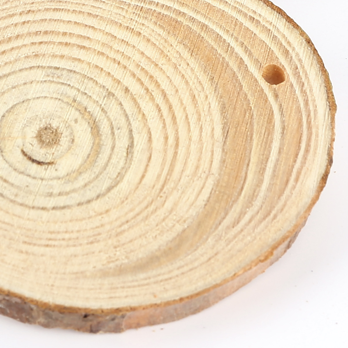 Wooden wood log slices natural tree bark round shape for How to cut wood slices