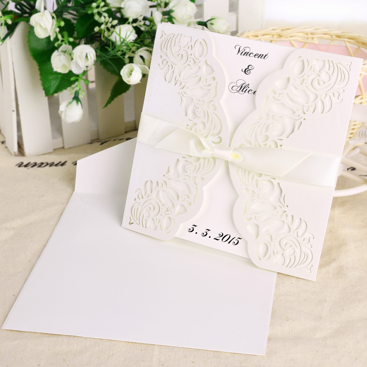 invitation paper and envelopes Wedding envelopes in many styles make your wedding invitation envelopes look unique & stylish white & ivory envelopes, bags, ribbon, place cards, & labels.